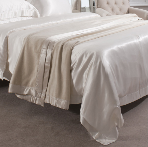 Silk Blanket Ivory - Jasmine Silk