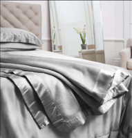 Silk Blanket Grey - Jasmine Silk