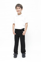 Organic School Uniform - Black Boys Slim Fit Trousers