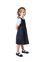 Organic School Uniform - Navy Pinafore Dress