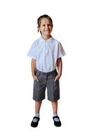 Organic School Uniform - Girl Grey Shorts