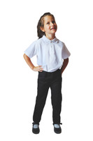 Organic School Uniform - Girl Black Trousers Classic Fit