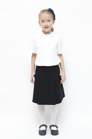 Organic School Uniform - Black Drop Waist Pleated Skirt
