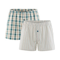 Mens Boxers Green (Twin Pack) - Living Crafts