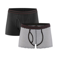 Organic Cotton Men Stripey Boxers Twin Pack - Living Crafts