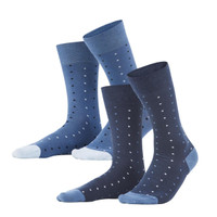 Organic Cotton Gero Socks in Blue (Pack of 2) - Living Crafts