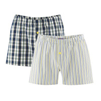Mens Boxers Navy / Lemon - Living Crafts