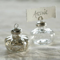 Antique Silver Place Name Holder