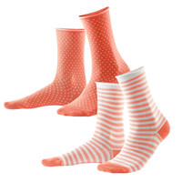 Alexis Socks in Coral (pack of 2 pairs) - Living Crafts