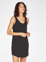 Leah Slip Dress in Black - Thought