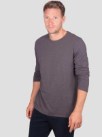 Marvin Long Sleeve Top in Walnut Grey - Thought
