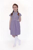 Organic School Uniform - Lilac Summer Gingham Checked Dress