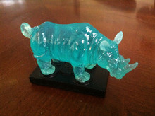 Small Blue Feng Shui Rhinoceros