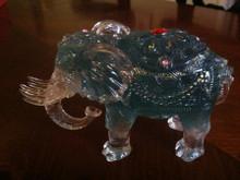 Blue Feng Shui Fertility Elephant