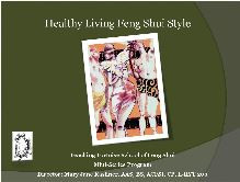Healthy Living Feng Shui Style
