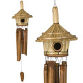 Thatched Roof Birdhouse Chime