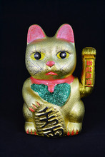 Waving Golden Lucky Cat