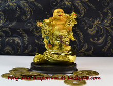 Buddha on Money Bags | Feng Shui Emporium