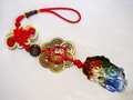 Pi Yao Charm with 5 Emperor Coins