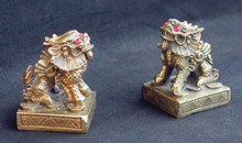 Brass Dragons, or Chi Lin - SET OF TWO