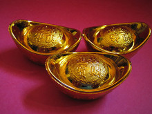 Golden Ingots of Prosperity, Set of 3