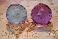 Larger 40mm Colored Swarovski Crystal Faceted Balls