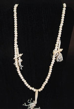 Bone Mala Necklace in White w/Counters