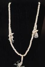 Bone Mala Necklace in White w/Counters