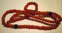 Dark Yellow Amber Mala Necklace - Squared Beads