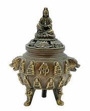 Kuan Yin Incense Burner - Brass