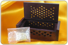 Amber Resin Incense in Rosewood Box