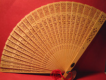 Sandlewood Folding Fan