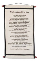 Scroll #5: The Paradox of Our Age, <font color='#000099'>by H.H. The Dalai Lama</font>