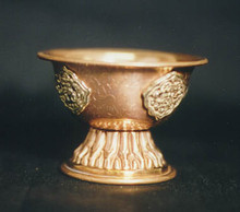 Copper Pedestal Bowl, short