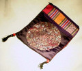 "Each colorful and well-made bag has 3 compartments, 2 which are zippered. A good passport bag. Measures 6.5"" x 8""."