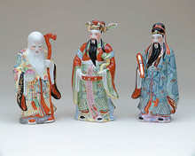 "The three most important Household Gods of China, also known as ""The Three Immortals,"" are Fuk, Luk and Sau."