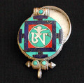 Turquoise and Silver Tibetan OM Locket