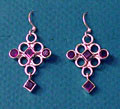 Sterling & Amethyst Maharini Earrings