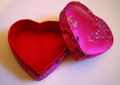 Heart-Shaped Brocade Box
