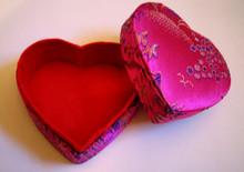 Heart-Shaped Brocade Box