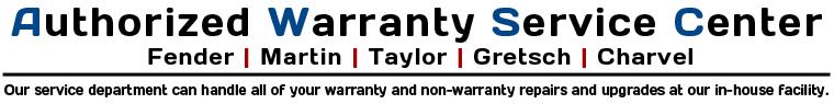 warranty fender martin taylor gretsch charvel