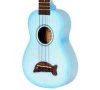 Kala Makala Dolphin Series Ukulele - Light Blue Burst