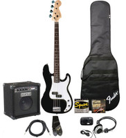 Fender Affinity Precision Black Bass Pack:  with  Rumble Amp