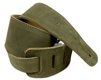 Levy's Leather Guitar Strap w/ Taylor logo, Suede Leather - Green
