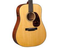 Martin D-18E Retro Acoustic-Electric Guitar, Solid top w/ Mahogany Back & Sides
