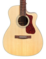 Guild OM-140CE Acoustic/Electric Guitar - Natural with Hardshell Case
