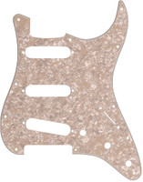 11-Hole Modern-Style Stratocaster® S/S/S Pickguard Aged White Moto