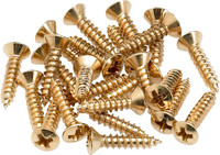 gs 0001-002 Pickguard - Control Plate Mounting Screws (24) Gold