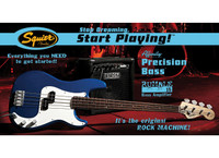 Fender Affinity Set: Squier P-Bass w/ Rumble 15 Amp - Metallic Blue