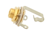 "EP-0055-002 Switchcraft #11 Gold 1/4"" Input Jack"
